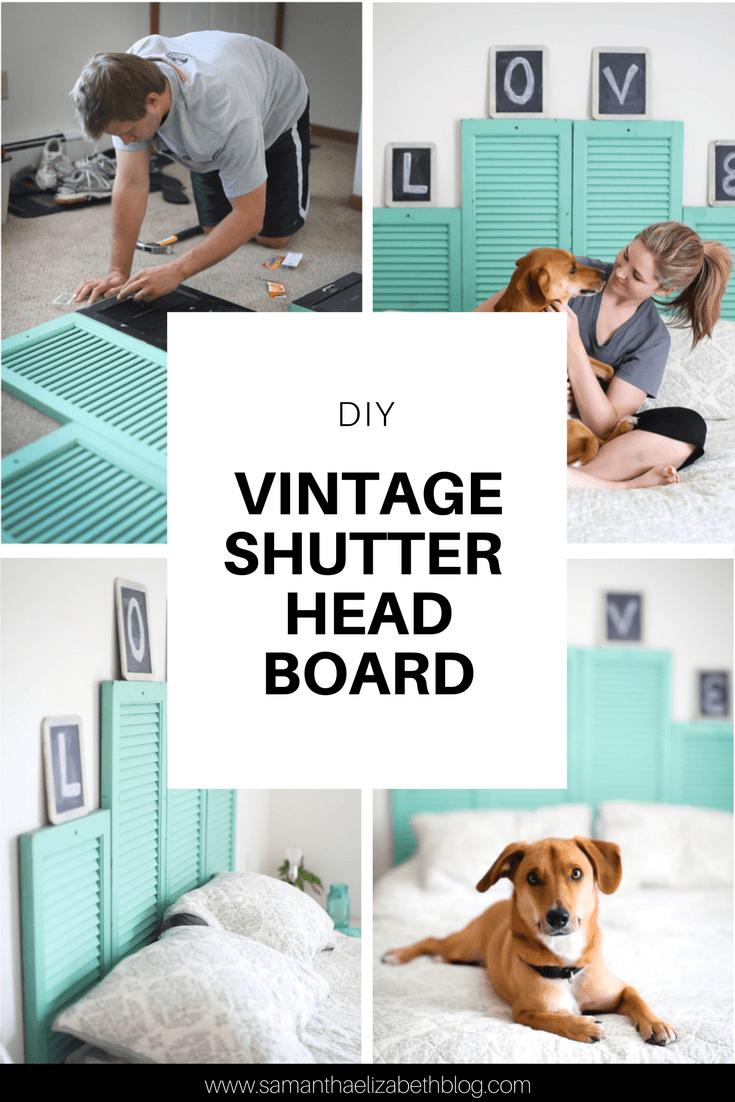 Diy Vintage Shutter Head Board Samantha Elizabeth