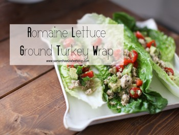 Recipe: Romaine Lettuce Ground Turkey Wrap