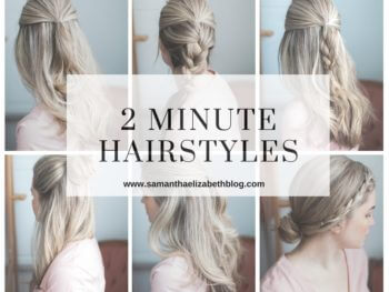 Simple 2 Minute Hairstyles