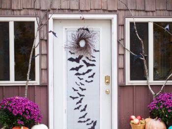 Our Eerie Halloween Entryway